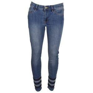 Tommy Hilfiger Indigo Mid Rise Rhinestone Jeans